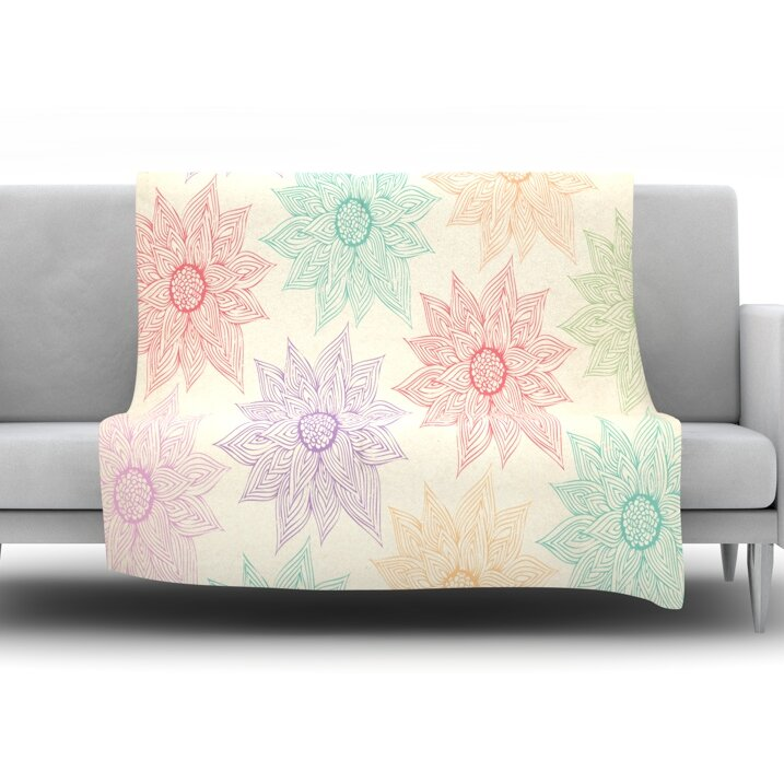 Spring Florals by Pom Graphic Design Fleece Throw Blanket