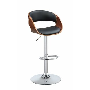 Frias Adjustable Height Swivel Bar Stool Orren Ellis