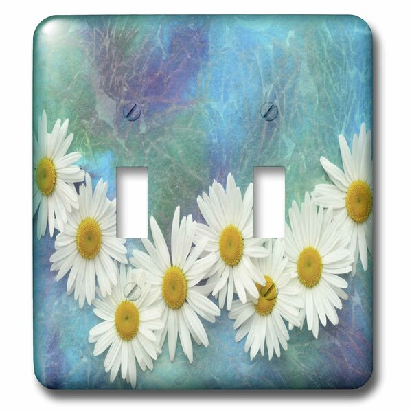 Daisy Co. Digital Art By Angelandspot 2-Gang Toggle Light Switch Wall Plate by 3dRose