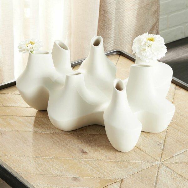 Large White Round Vase Wayfair