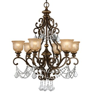 Astoria Grand Tusten 6-Light Shaded Chandelier