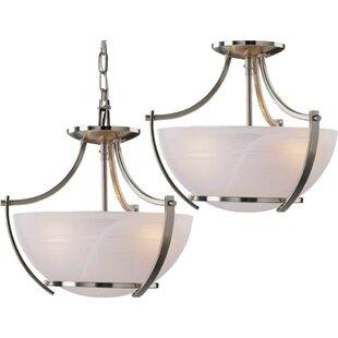 Durango 3-Light Pendant or Semi Flush Mount by Volume Lighting