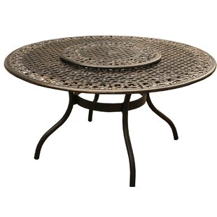Casarez Ornate Traditional Outdoor Mesh Lattice Dining Table