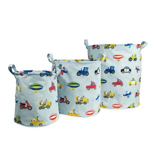 Kaylie Fabric 3 Piece Storage Bin Set