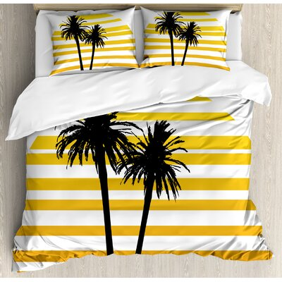 Tropical Duvet Cover Set Ambesonne