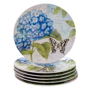 Marquis Hydrangea Melamine Dinner Plate (Set of 6)