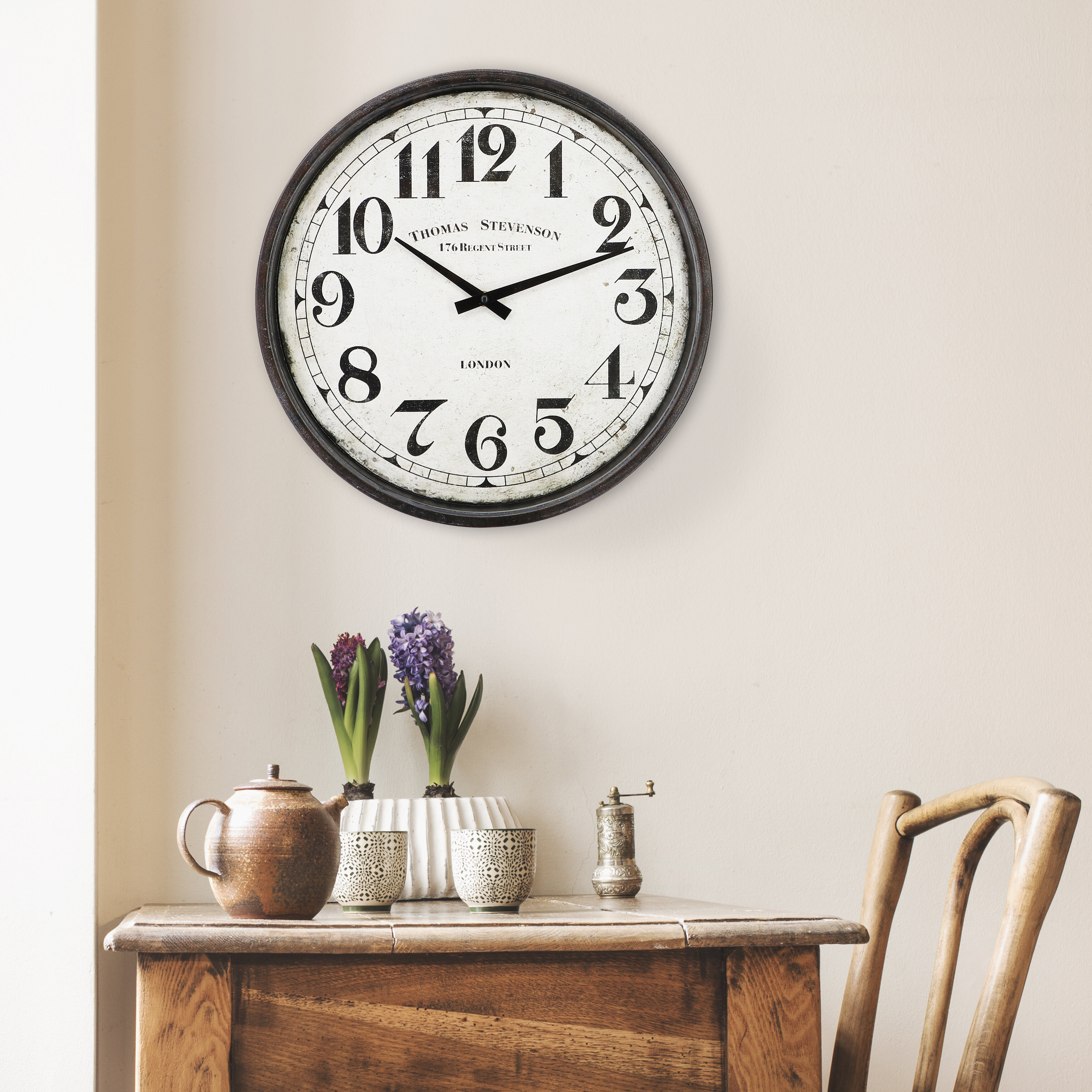 Winston Porter Templeton 15 3 Wall Clock Reviews Wayfair