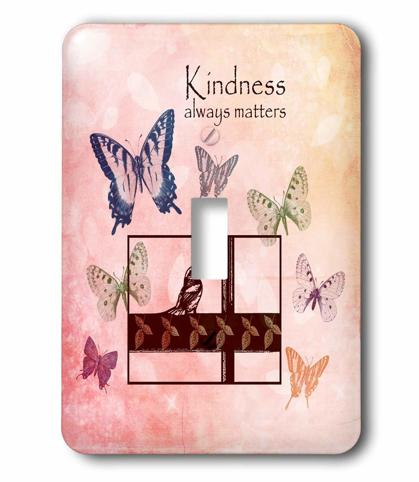 3drose Kindness Matters Butterflies Inspirational Art 1 Gang Toggle Light Switch Wall Plate Wayfair
