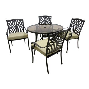 Darby Home Co Boulevard 5 Piece Dining Set with Cushions
