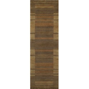 Compare prices Donaghy Hand-Woven Brown/Yellow Area Rug By Ebern Designs