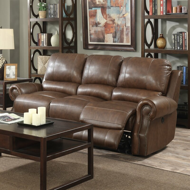 Crete Leather Reclining Sofa & Red Barrel Studio Crete Leather Reclining Sofa u0026 Reviews | Wayfair islam-shia.org
