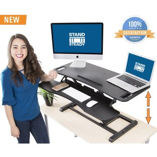 Enprise Height Adjustable Standing Desk Converter by Symple Stuff Read Reviews