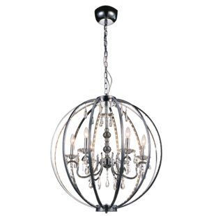 House of Hampton Caesar 6-Light Candle-Style Chandelier
