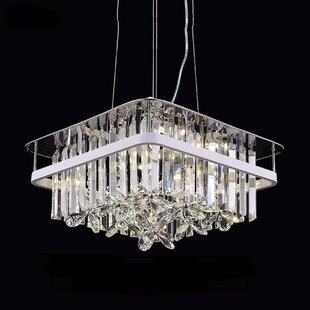 Watford LED Crystal Chandelier by Everly Quinn