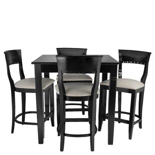 Weishaar 5 Piece Pub Table Set Red Barrel Studio