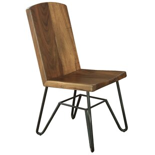 Marinez Solid Wood Dining Chair Union Rustic
