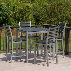 Outdoor Pub Tables And Chairs bar height patio sets | wayfair