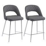 Fidelis Bar Stool (Set of 2) by Orren Ellis