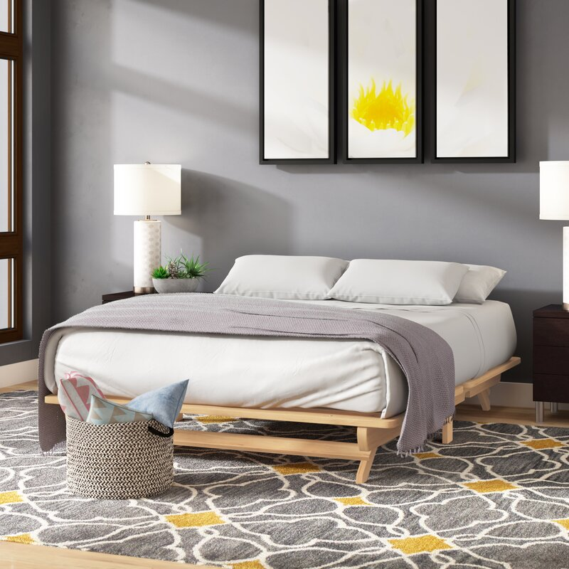 Andover Mills Evie Solid Wood Platform Bed Reviews Wayfair