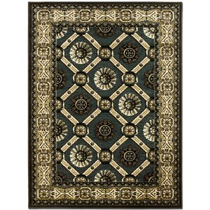 Exotic Green/Beige Area Rug