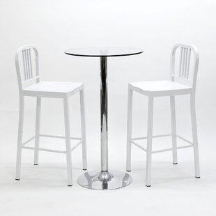 Talon 3 Piece Pub Table Set By Metro Lane
