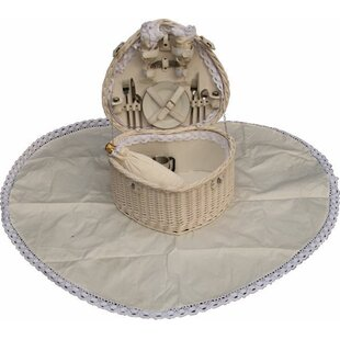 Heart Shaped Fitted Picnic Basket By Lily Manor