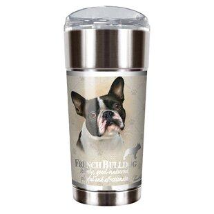 Howard Robinson's French Bulldog 24 oz. Stainless Steel Travel Tumbler