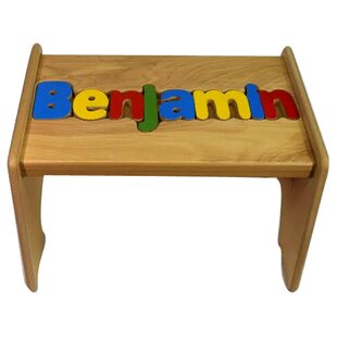 Todd Child Wooden Puzzle Personalized Step Stool by Zoomie Kids