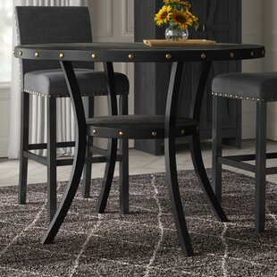 Crooke Round Wood Counter Height Dining Table