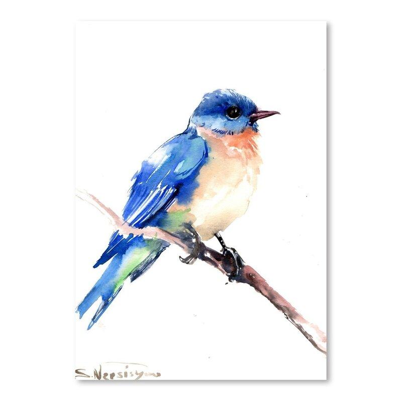 b929d8a85ae East Urban Home 'Bluebird 2' Painting Print
