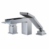 Sharonville Single Handle Deck Mounted Roman Tub Faucet Trim with Diverter and Handshower