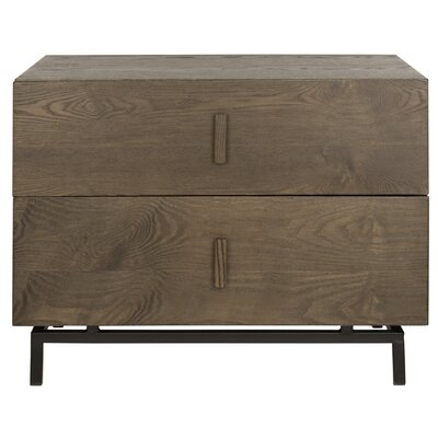 Brayden Studio Garver End Table Color: Dark Brown/Black