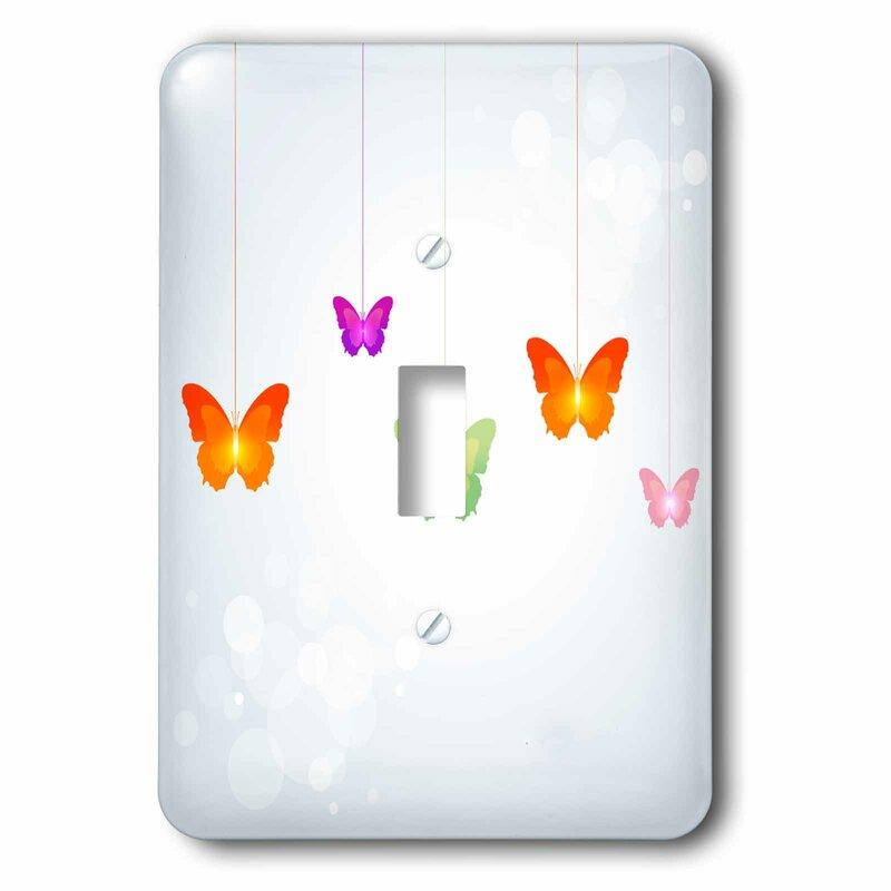 3drose Dangling Butterflies 1 Gang Toggle Light Switch Wall Plate Wayfair