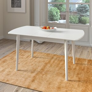 Liggett Extendable Solid Wood Dining Table by Three Posts