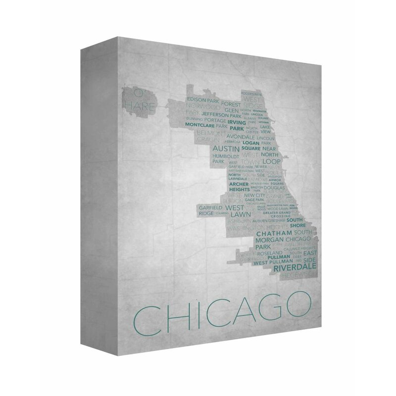 Sensational Chicago In Words 1 Textual Art On Canvas Machost Co Dining Chair Design Ideas Machostcouk