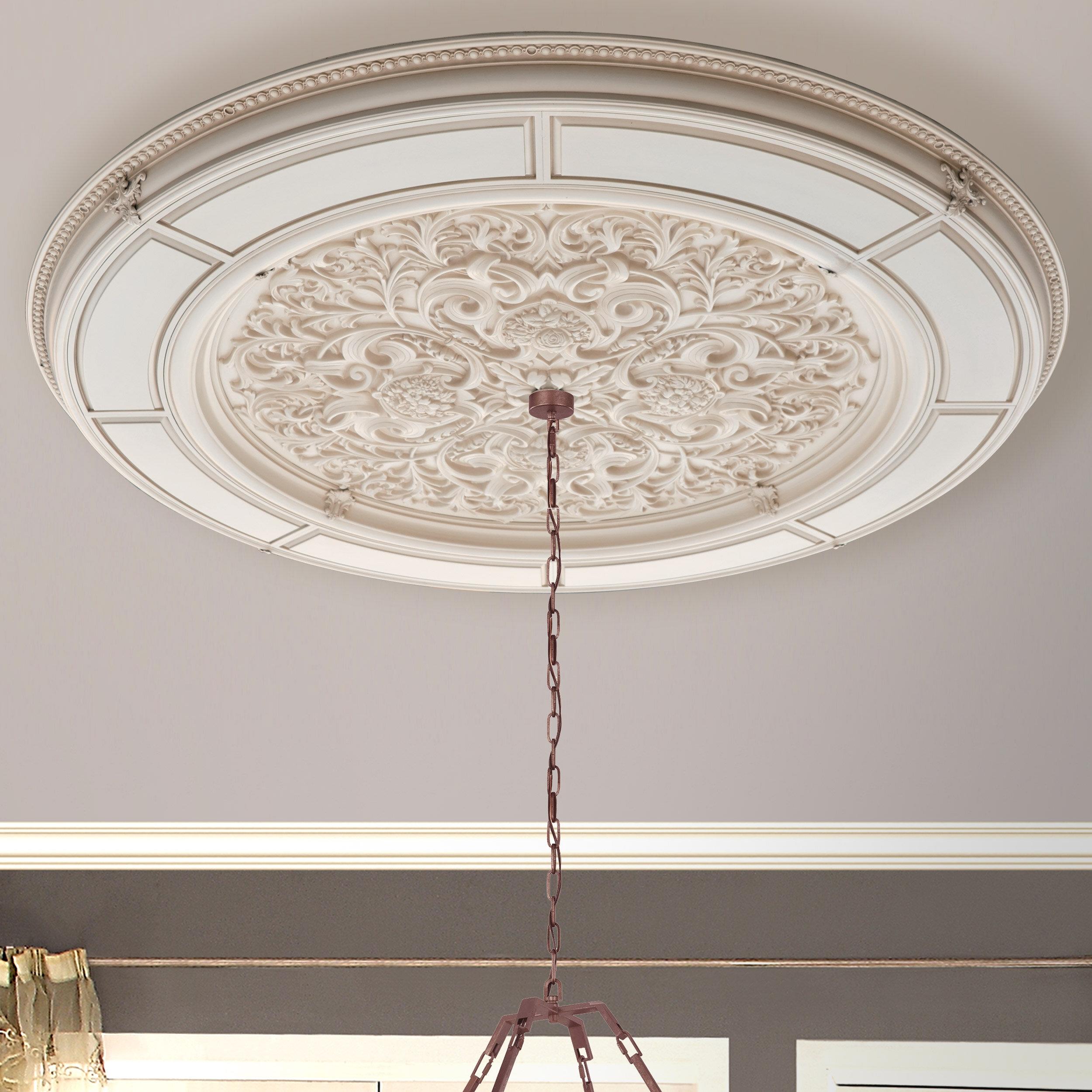 Art Frame Direct Alluring Carve Cream Round Ceiling Medallion Wayfair