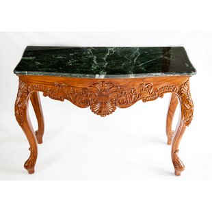 The Silver Teak Top Classic French Consol..