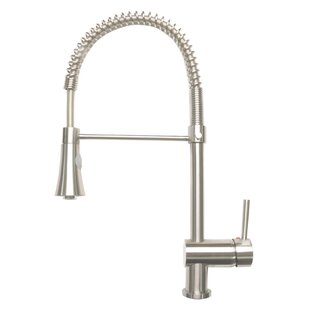 Review Pull-Down Touch Single Handle Kitchen Faucet with Side Spray by Zenvida