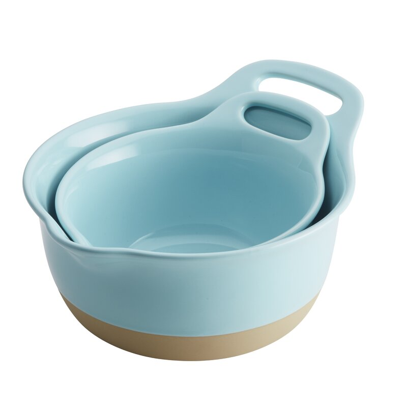 2 Piece Ceramic Mixing Bowl Set