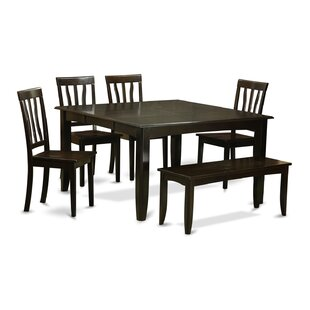 Parfait 6 Piece Dining Set Wooden Importers