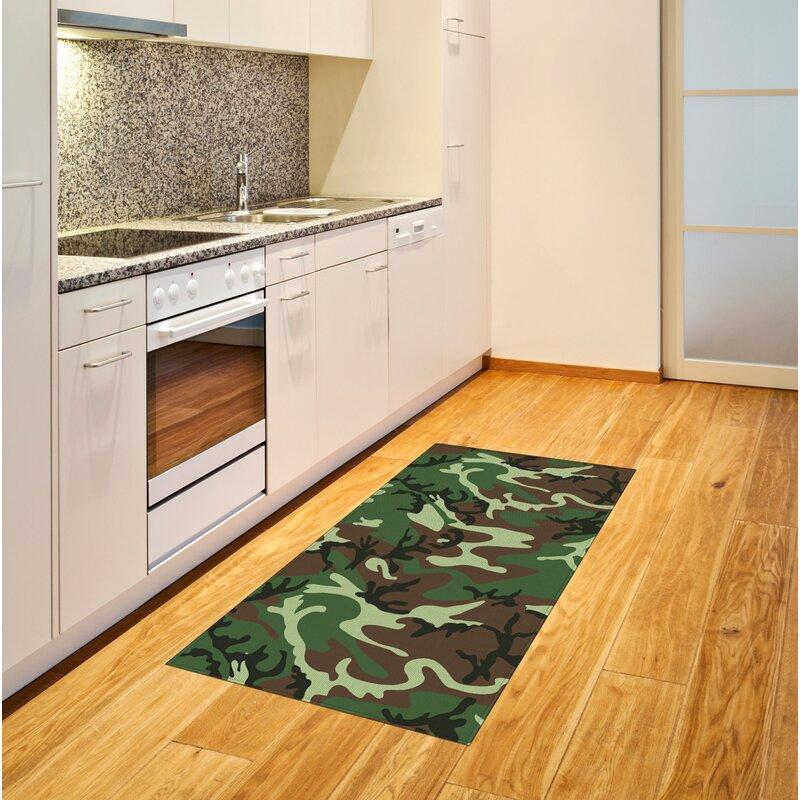 Ebern Designs Gillsville Flatweave Green Brown Rug Wayfair Co Uk