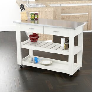Maglione Stainless Steel Kitchen Cart by Charlton Home Savings