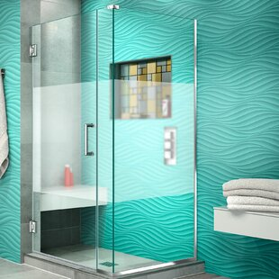 Unidoor Plus 34 x 72 Hinged Frameless Shower Door with Clear Max Technology by DreamLine