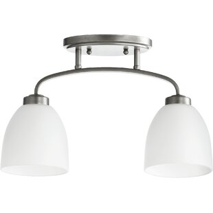 Edie 2-Light Semi Flush Mount by Andover Mills