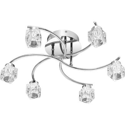 Orren Ellis Darian 6 Light Semi Flush Mount