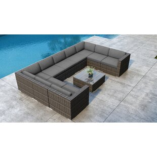 Gilleland 10 Piece Sectional Set with Sunbrella Cushion