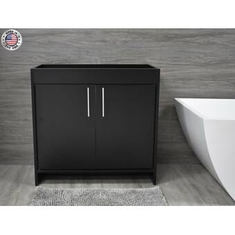 Kohler Jacquard 36 Vanity Base Only With Toe Kick 1 Door And 3 Drawers On Right Wayfair
