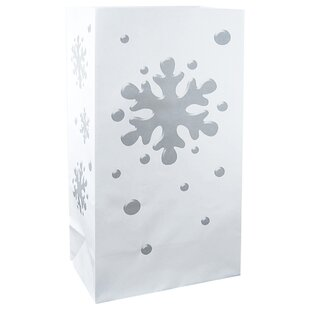 The Holiday Aisle Snowflake Bag Paper Lantern (Set of 100)