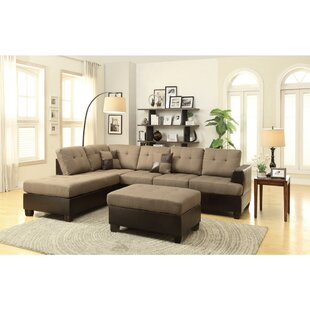 Girouard Reversible Modular Sectional with Ottoman