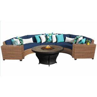 Waterbury 6 Piece Rattan Sectional Set with Cushions